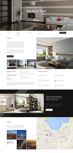Real estate project page