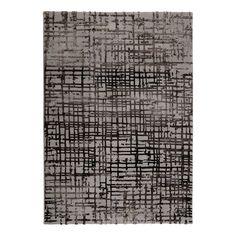 Teppich Velvet Grid - Kunstfaser - Taupe / Braun - 80 x 150 cm, Esprit