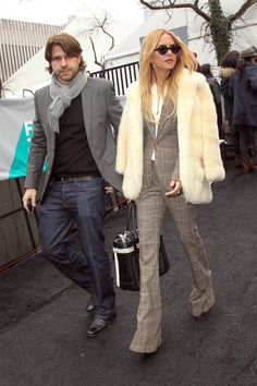rachel zoe style | Rachel Zoe Photos - Rachel Zoe and Rodger Berman at Fashion Week ...
