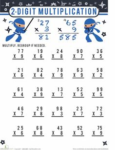 math worksheet : by 2 multiplication and worksheets on pinterest : Multiplication Algorithm Worksheets
