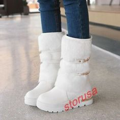 E TOY WORD Women's Snow Boots women white Fur Boots fashion Hidden Warm Fur inside Platform Mid-calf – Boots 2020 Warm Snow Boots, Snow Boots Women, Cute Snow Boots, Justin Boots, Fur Boots, Shoe Boots, Cowgirl Boots, Western Boots, Riding Boots