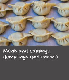 The Russian version of Chinese dumplings, this recipe is said to have been spread through Siberia via Mongol invaders. Other theories suggest pelemeni are of Persian origin, from the Persian name pel'n'an'. Crab Recipes, Cabbage Recipes, Side Recipes, Beef Recipes, Appetizer Recipes, Appetizers, Chinese Dumplings, Sbs Food, Easy Chinese Recipes