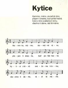 kytice Aa School, School Clubs, Kids Songs, Sheet Music, Alice, Children Songs, Songs For Children, Nursery Songs, Music Score