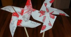 Canada Day is only a few days away, so I thought we should do some crafts to celebrate our country's birthday :) I never realized just how . Canada Day Crafts, Country Birthday, Make Your Mark, Crafty Projects, Pinwheels, Christmas Stockings, Activities, Holiday Decor, Big