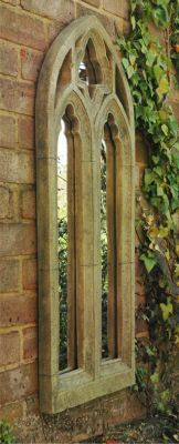 Gothic Arch Outdoor Stone Effect Mirror £64.95