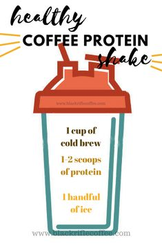 BLACK RIFLE COFFEE cold brew, with protein & some ice … # 1 Coffee Protein Shake ! BLACK RIFLE COFFEE cold brew with egg whites and some ice cream – it could not be better! Start your year and keep up with your goals! Coffee Protein Smoothie, Iced Coffee Protein Shake Recipe, Smoothie Drinks, Smoothie King, Smoothie Recipes, Premier Protein Shakes, Healthy Protein Shakes, Protein Shake Recipes, Healthy Smoothies