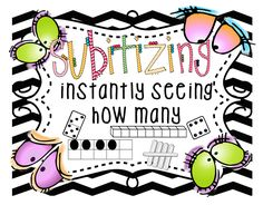 """Hello Everyone! Subitizing has become a big component of our math curriculum over the last few years. Subitizing is """"instantly seeing how. Subitizing Activities, Preschool Math, Math Classroom, Fun Math, Teaching Math, Kindergarten Math, Math Games, Numeracy, Teaching Ideas"""