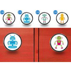Children's Robot Furniture Door Knobs