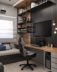 Bedroom Setup, Room Design Bedroom, Small Room Bedroom, Home Room Design, Home Office Design, Home Interior Design, Home Studio Setup, Home Office Setup, Home Office Space