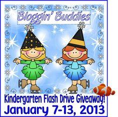 Rockin' Teacher Materials: Kindergarten Flash Drive Giveaway!  Don't miss your chance to win a flash drive FULL of kindergarten materials!