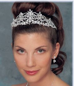 Ansonia Bridal 7210 Rhinestone and Crystal Wedding Tiara