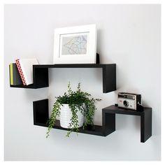 Sila Wall Shelf Set of 2 - Black : Target