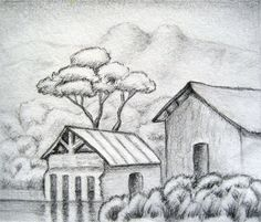 Drawing For Beginners easy pencil drawings for beginners Easy Pencil Drawings, Pencil Drawings For Beginners, Beginner Sketches, Pencil Drawing Tutorials, Realistic Drawings, Art Drawings Sketches, Art Tutorials, Cool Drawings, Landscape Sketch