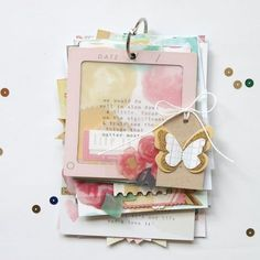 """Another view of the same mini book:""""Life is Good"""" (Mini Album) + scrapbook inspiration by Stephanie Bryan."""