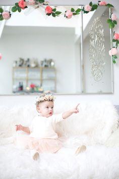 Elegant, pink 1st birthday party