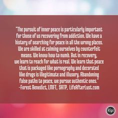 Pursuing Peace - Life After Lust Quote