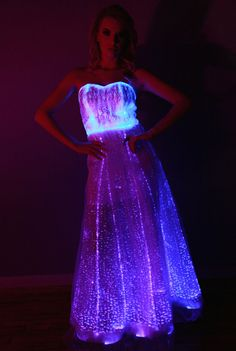 Hey, I found this really awesome Etsy listing at https://www.etsy.com/listing/210532546/fiber-optic-gown-dress-color-changing