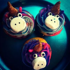 Unicorn Cupcakes with a recipe! Inspired by Despicable Me 2