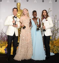 Matthew McConaughey, Cate Blanchett, Lupita Nyong'o, Jared Leto. All Winners at the Academy Awards 2014.