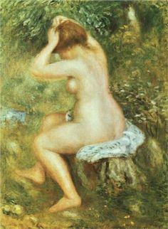 Bather is Styling - Pierre-Auguste Renoir