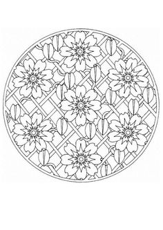 Difficult Mandala Coloring Pages | Mandala 66 - Mandalas for EXPERTS