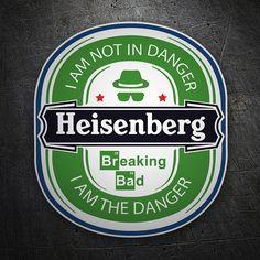 Pegatinas: Breaking Bad Cerveza Heisenberg #BreakingBad #Vinilo #Pegatina