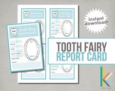 Tooth Fairy Report Card, Digital File, Instant Download by thekreationsbykristy on Etsy https://www.etsy.com/listing/238242872/tooth-fairy-report-card-digital-file