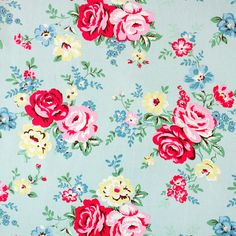 Park Rose Cotton Duck | New Arrivals | CathKidston - love this pattern!