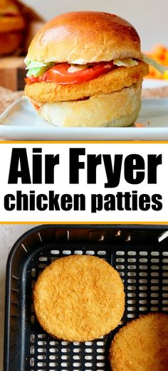 Frozen chicken patties in air fryer come out so tender on the inside with a crispy outer layer. One of our favorite things for dinner on a bun. #frozenfood #chickenpatties #airfryerchicken #airfryerchickenpatties #ninjafoodi