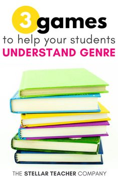 3 Games That Will Help Your Students Understand Genre — The Stellar Teacher Co. Teaching Genre, Teaching 5th Grade, 5th Grade Reading, Help Teaching, Teaching Reading, Student Learning, Guided Reading, Teaching Ideas, Reading Genres