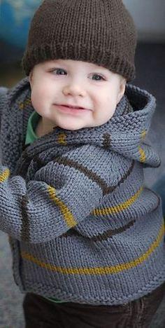 Ravelry: Stormy Jacket & Bark Cap Pattern by Hannah Fettig. So sweet smelly. Ravelry: Stormy Jacket & Bark Cap Pattern by Hannah Fettig. So sweet smelly. , Ravelry: Stormy Jacket & Bark Cap pattern by Hannah Fettig. Baby Boy Knitting Patterns, Baby Cardigan Knitting Pattern, Knitting For Kids, Baby Patterns, Knit Patterns, Knitting Projects, Baby Sweater Patterns, Knitted Baby Cardigan, Hooded Sweater