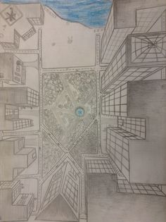 My perspective drawing. You can tell that I gave up on the water. xD follow @mariaisaspy on instagram and twitter.