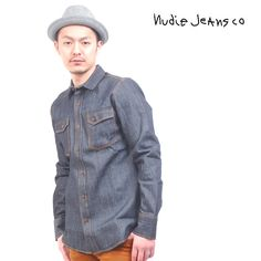 Nudie Jeans(ヌーディージーンズ) デニムシャツ 長袖 生 リジッド【送料無料】 sh-nude-032