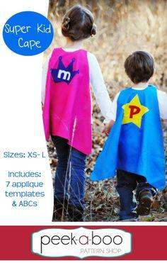 Super Kid Cape - FREE sewing pattern