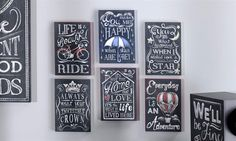 Giftcraft - MDF Mini Wall Plaques 6 Asst.