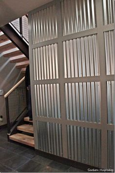 Looking To Make The Studio Walls Out Of Corrugated Metal U0026 Wood Trim...love  The Industrial Look!! | Thoughts For Our Studio / Work Shop | Pinterest |  Wood ...