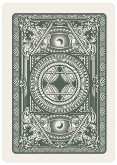 Recently I had a chance to work with a playing card company that sparked my excitement over developing backs to playing cards.  Here is a collection of pieces I've developed in this personal exploration to challenge myself in new techniques.