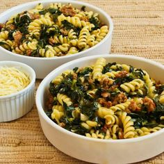 spicy italian sasauge. kale. garlic. red pepper. .