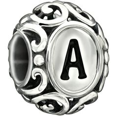 Chamilia's Sterling Silver 'A' Initially Speaking Bead #chamilia #a #bead #jewelry
