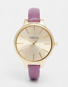 Reloj de cuero clásico muy fino de Breda