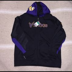 Nike Official NFL team apparel zipped hoodie SZ XL Nike Official NFL team apparel Mens SZ XL Minnesota Vikings Thermo fit Zippered hoodie brand-new with tags attached paid $109 Nike Tops Sweatshirts & Hoodies