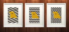 Columbia, Missouri State Set of Three Giclée Prints - 8x10 - Black and Gold University Print on Etsy, $37.00 would be way cooler if the hearts could be moved to St. Louis on one and Kansas City on another