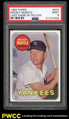 11 Best Mickey Mantle Baseball Cards Images In 2018 Mickey