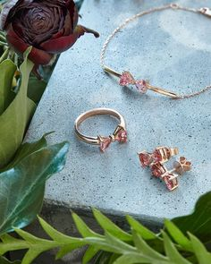 TIE THE KNOT: Every bridesmaid need is well and truly covered with these wedding jewels. Cast in rose gold for a refined finish, these pretty pieces embody Ted's signature spirit with a pink tourmaline and diamond-set bows Wedding Earrings, Wedding Jewelry, Wedding Ring, Body Jewelry, Fine Jewelry, Sparkly Jewelry, Silver Jewellery, Gemstone Jewelry, Diamond Anniversary