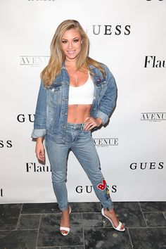 Nikki Leigh arrives at the Flaunt and Guess celebration of the Alternative Facts Issue hosted by Joe Jonas and DNCE on April 11, 2017 in Los Angeles, California.