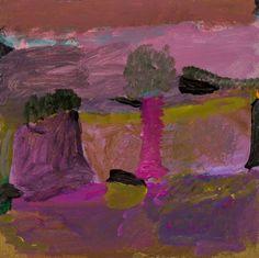 Idris Murphy, Pink Creek Bed, 2012, acrylic on board, 45 x 45 cm