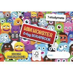 Write, draw and create in this Studymate Premium Scrapbook. Mini Monster, School Supplies, Scrapbook Paper, Stationery, Crafts, Draw, Club, Check, Image