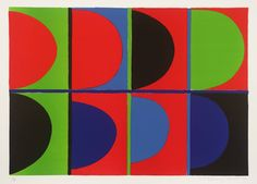 Sir Terry Frost 'Red, Blue, Green', 1972 © The estate of Sir Terry Frost Sonia Delaunay, Nadir Afonso, Peter Wood, Patrick Heron, Painter Artist, English Artists, Art Plastique, Geometric Art, Art Fair