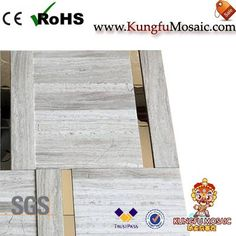 Generally speaking, the wooden marble mosaic always light color. As most wooden style stone in grey or white color. Of course, there also has black wood marble too. For example, this product made by white wood stone. Stone Mosaic Tile, Marble Mosaic, Mosaic Tiles, Black Wood, White Wood, Wood Stone, Travertine, Light Colors, Home Decor