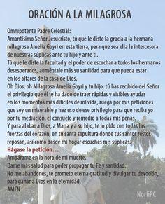 Oración y plegaria a la #Milagrosa de Cuba. Para rogar por la salud de un hijo, un feliz embarazo o que nos de la bendición de concebir una criatura